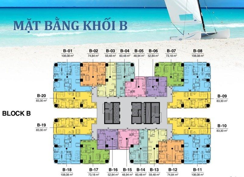 Mặt bằng Vũng Tàu Melody Block B