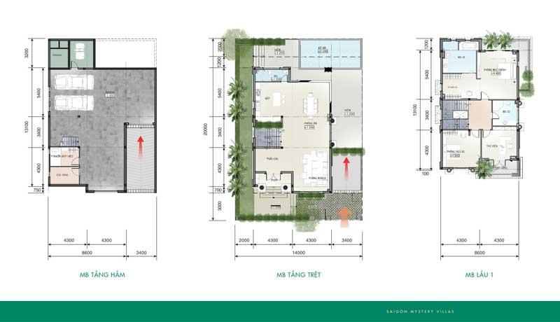 Thiết kế biệt thự Saigon Mystery Villas 280m2
