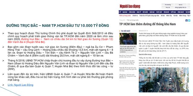 Quy hoạch cơ sở hạ tầng Nam Sài Gòn