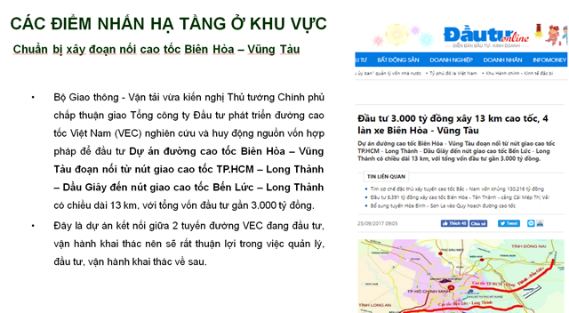 Chuẩn bị xây đoạn nối cao tốc Biên Hòa – Vũng Tàu
