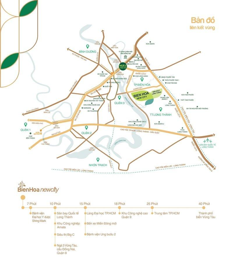 Vị trí đất nền Biên Hòa New City