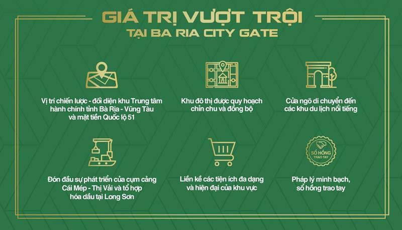 Giá trị Vượt trội dự án Bà Rịa City Gate