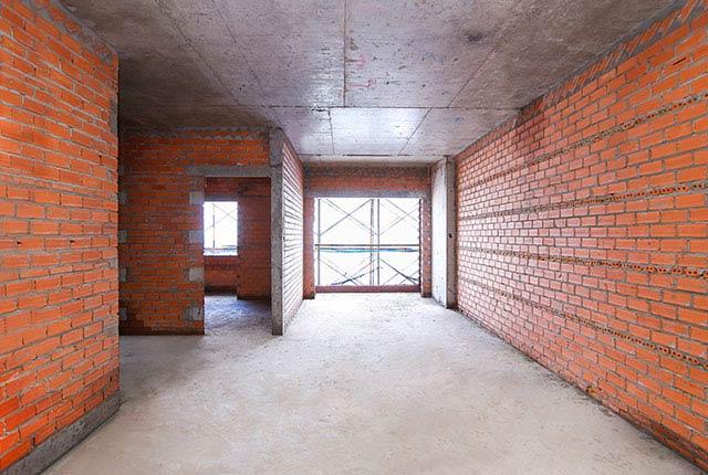 Xây tường bao căn hộ tầng 19 block Glory