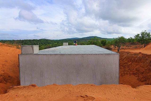 Thi công bể cấp nước sạch dự án