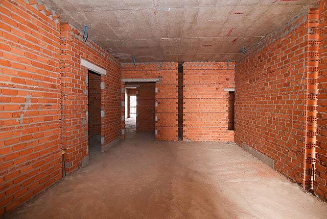 Công tác thi công xây tường tầng 17 block A