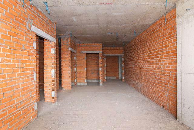 Công tác thi công xây tường tầng 17 block B