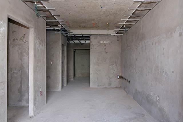 Tô tường căn hộ từ tầng 5 đến tầng 18 block Glory