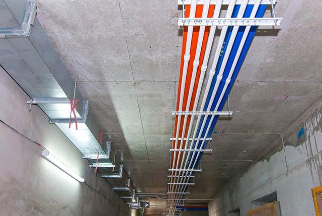 Công tác thi công M&E từ tầng 5 đến tầng 17 block Glory