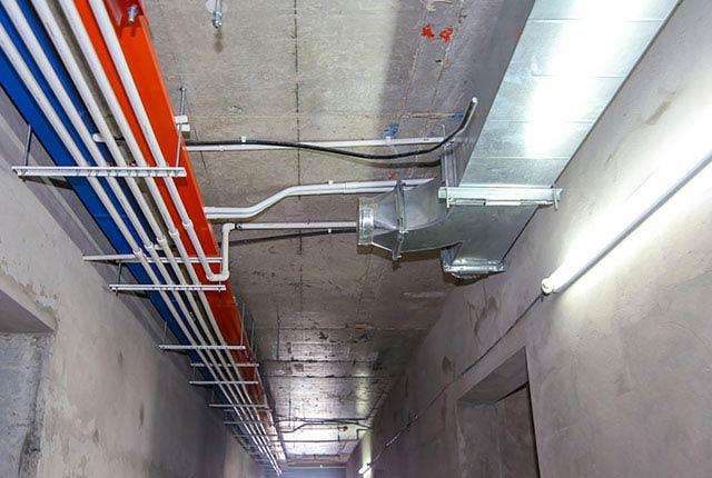 Công tác thi công M&E từ tầng 5 đến tầng 18 block Glory