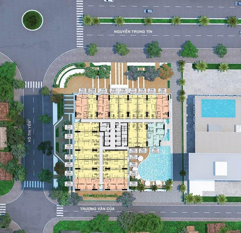 Thiết kế căn hộ Quy Nhơn Melody tầng 6 - 18 và 20 -35