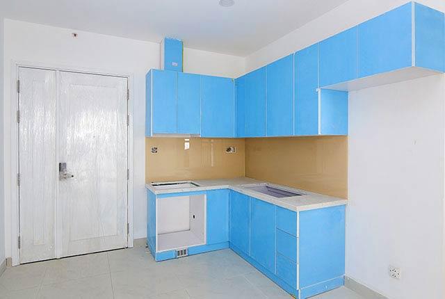 Thi công lắp đặt tủ bếp căn hộ tầng 5 - 17 block Northern