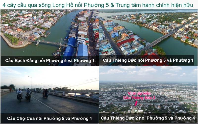Hệ thống cầu kết nối trung tâm Tp Vĩnh Long