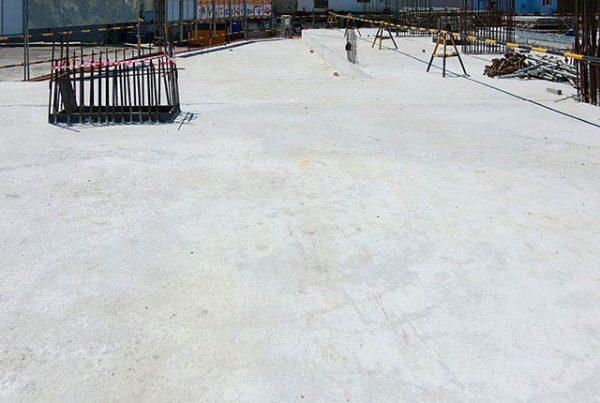 Hoàn thành đổ bê tông sàn tầng 1 Block A