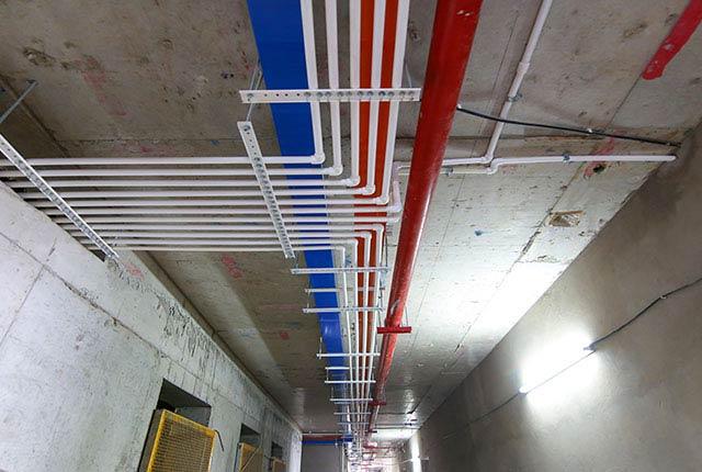 Công tác thi công M&E từ tầng 5 đến tầng 22 block Glory