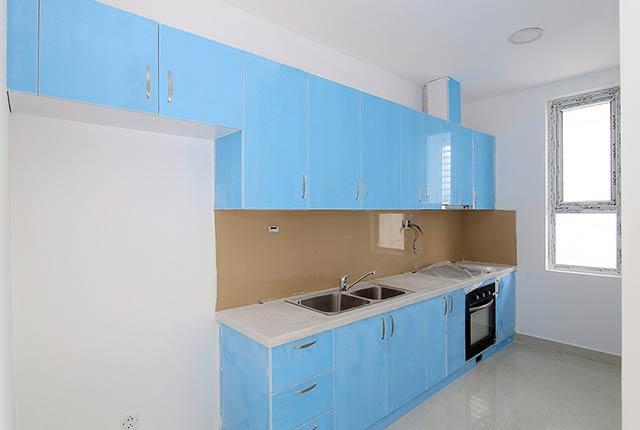 Lắp đặt tủ bếp tầng 5 - 21 và thiết bị bếp căn hộ tầng 7 - 19 block Southern