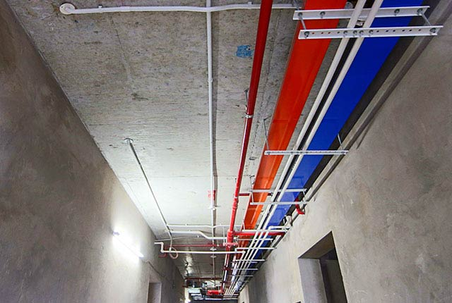 Công tác thi công M&E từ tầng 5 đến tầng 24 block Glory