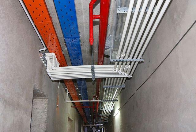 Công tác thi công hệ thống M&E tầng 19 block B