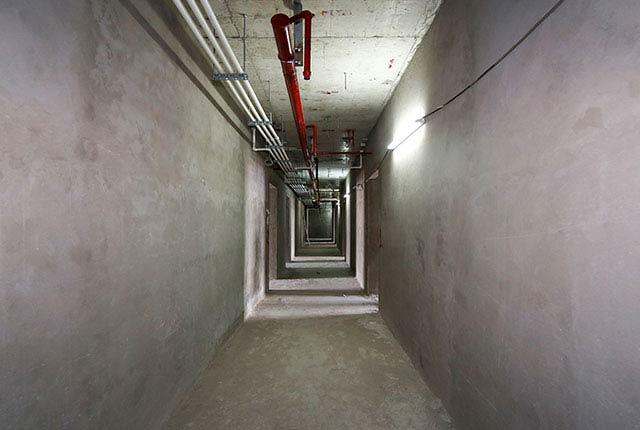 Công tác thi công tô tường hành lang tầng 20 block A