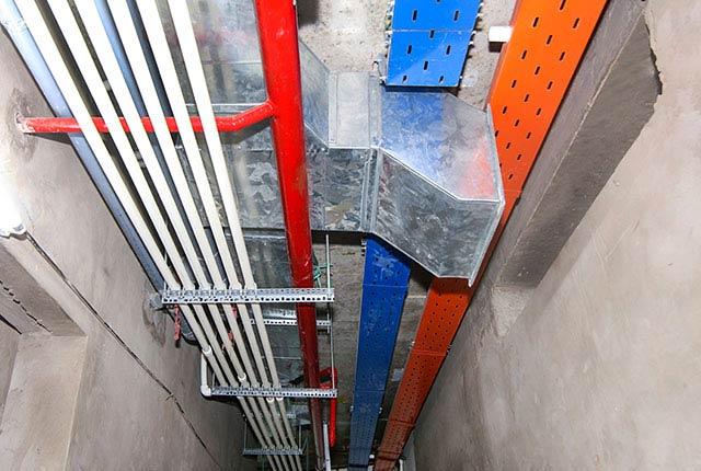 Công tác thi công hệ thống M&E tầng 19 block A