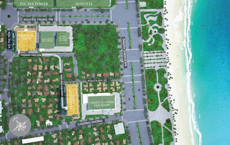 Vị trí căn hộ Quy Nhơn Melody Hưng Thịnh