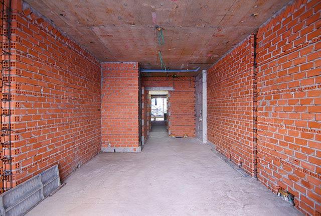 Xây tường bao căn hộ từ tầng 5 đến tầng 8 block Riches