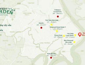 Giá bán đất nền khu vực Long Phước Quận 9