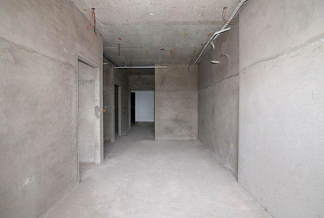 Công tác thi công tô tường căn hộ tầng 17 block B