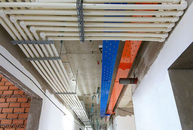 Công tác thi công hệ thống M&E tầng 18 block B