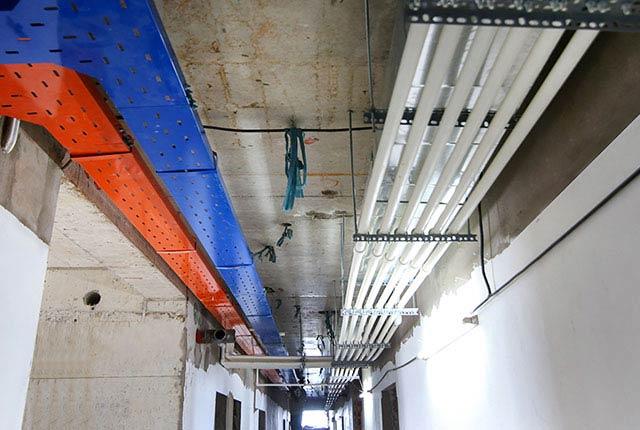 Công tác thi công hệ thống M&E tầng 18 block C