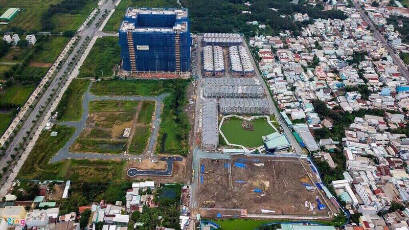 Hình ảnh thực tế vị trí dự án Q7 Boulevard