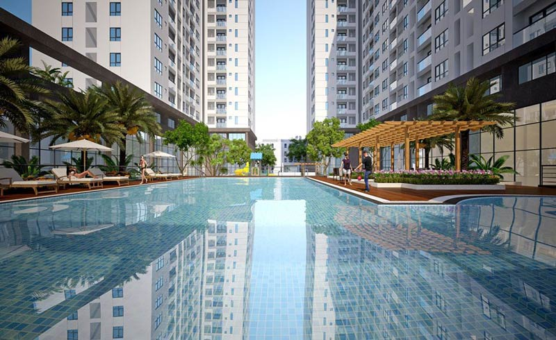 Hồ bơi căn hộ Q7 Boulevard