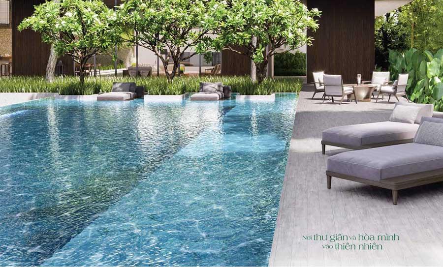 Khu hồ bơi biệt thự Sài Gòn Garden