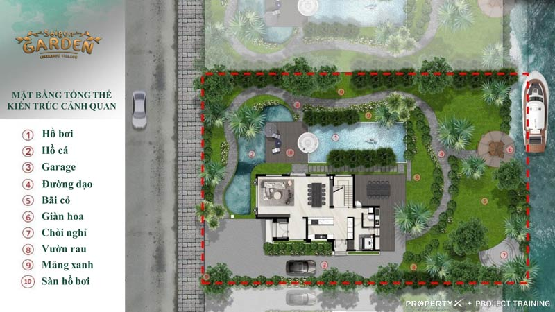 Mẫu thiết kế biệt thự Saigon Garden Riverside
