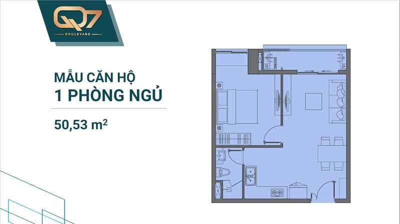 Thiết kê căn hộ Q7 Boulevard 1 phòng ngủ