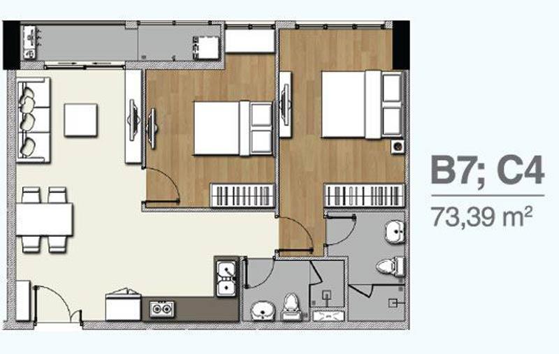 Thiết kế căn hộ Q7 Boulevard (dự kiến)