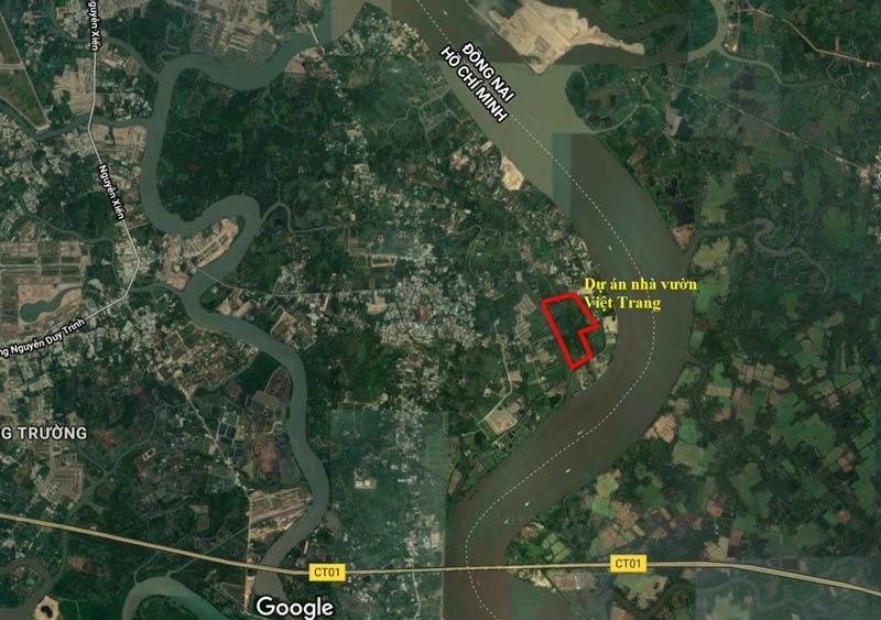 Vị trí nhà vườn Việt Trang Quận 9
