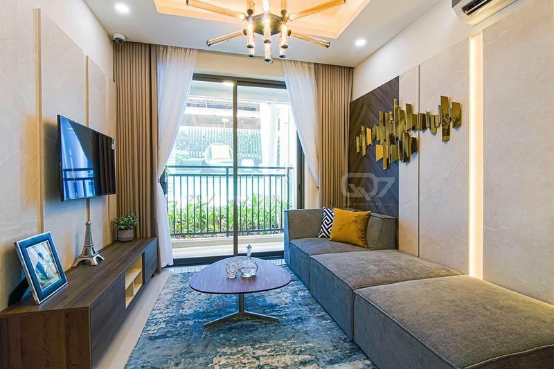 Phòng khách căn hộ Q7 Boulevard
