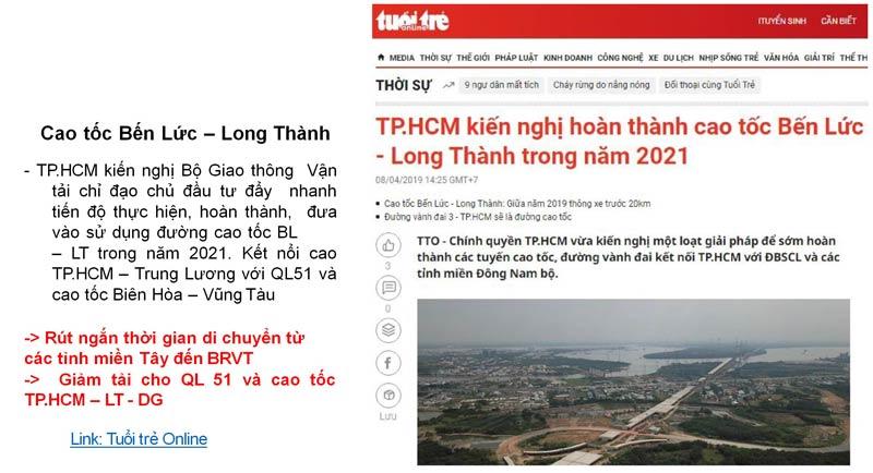 Quy hoạch kết nối Tp Vũng Tàu gần hơn