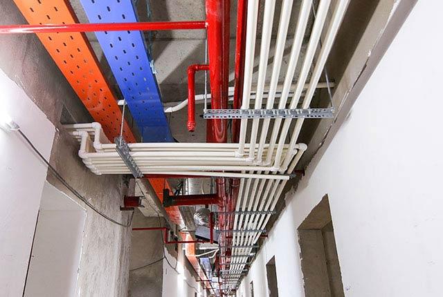 Công tác thi công hệ thống M&E tầng 20 block A