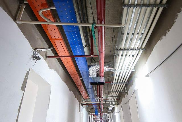 Công tác thi công hệ thống M&E tầng 20 block C