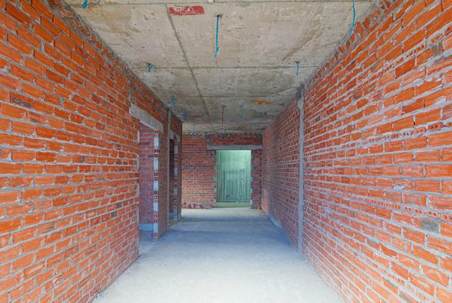 Xây tường bao căn hộ tầng 7 Block B và Block C