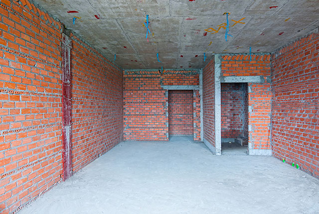 Xây tường bao căn hộ tầng 8 Block A1