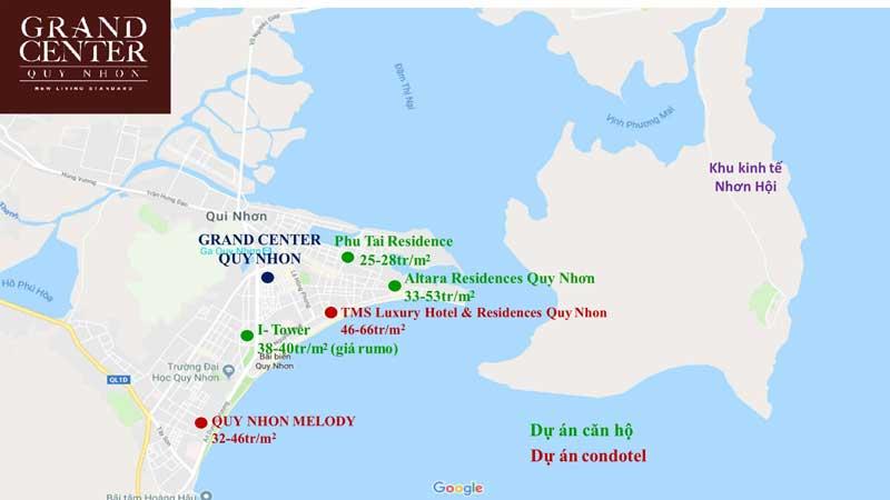 Bảng giá căn hộ Quy Nhơn