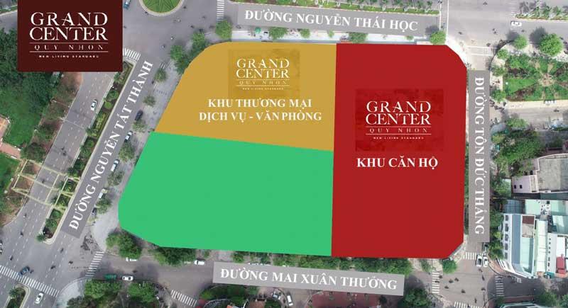 Tổng thể mặt bằng Dự án Grand Center