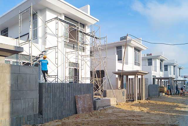 Công tác thi công cổng Villa khu P