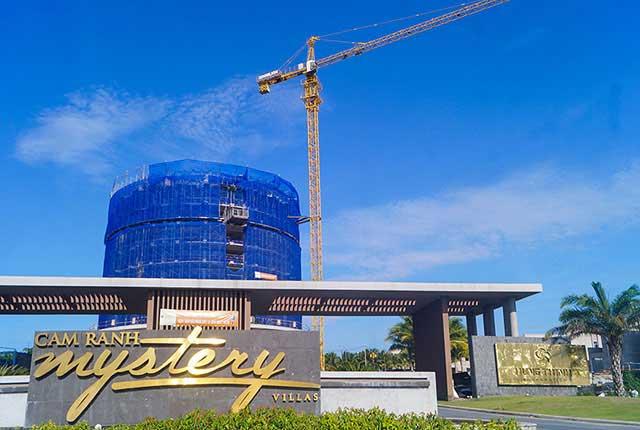 Hình ảnh tổng quan khách sạn dự án đang trong quá trình xây dựng đến tầng 9