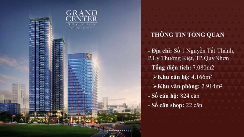 Tổng quan căn hộ Grand Center Tp Quy Nhơn