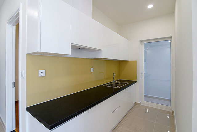 Hoàn thành công tác thi công lắp đặt tủ bếp căn hộ block B