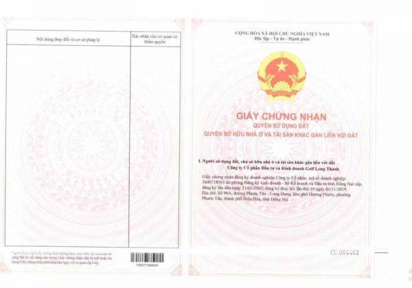 Sổ đỏ đất nền Biên Hòa New City