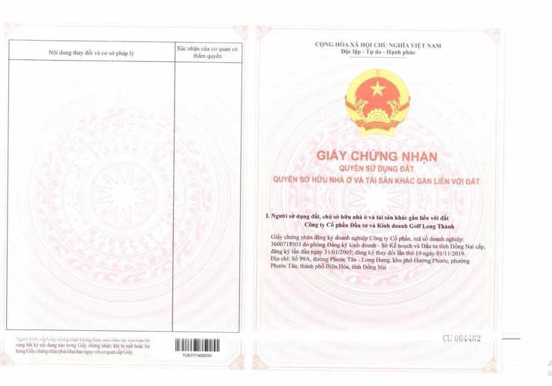 Chuyển nhượng đất nền sổ đỏ Biên Hòa New City giá tốt nhất 2020